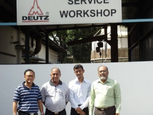 PEL team Deutz service workshop in Singapore