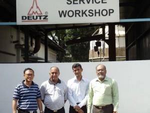 PEL team Deutz service workshop in Singapore