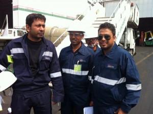 PEL team in BIMAN GSE hangers after work